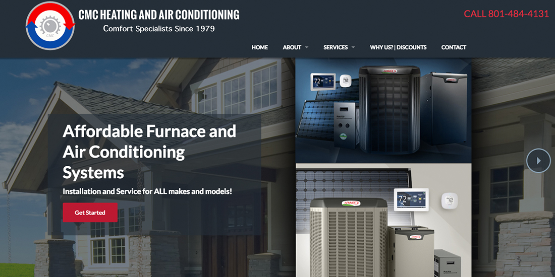 New Website launched for CMC Heating and Air